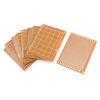 10Pcs Electronic Prototyping Copper Tone Printed Circuit Board 3.5 x 2.8
