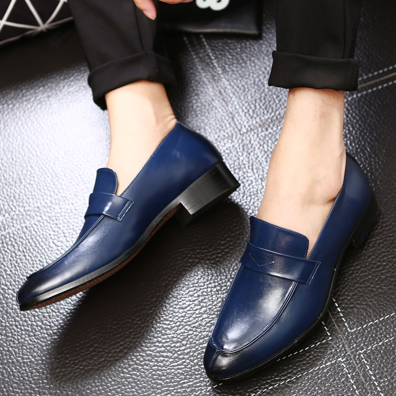 YEELOCA Casual Shoes Low Heel Leather Business Shoes Mens Slip-on Loafers Formal Dress Shoes Wedding Party Drive Shoes For Male