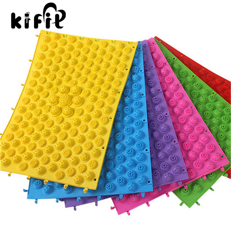 KIFIT Colorful Acupuncture Moxibustion Foot Massager Medical Therapy Mat Foot Massage Pad Health Care Tool hthl chinese health care colored plastic walk stone square healthy foot massage mat pad cushion