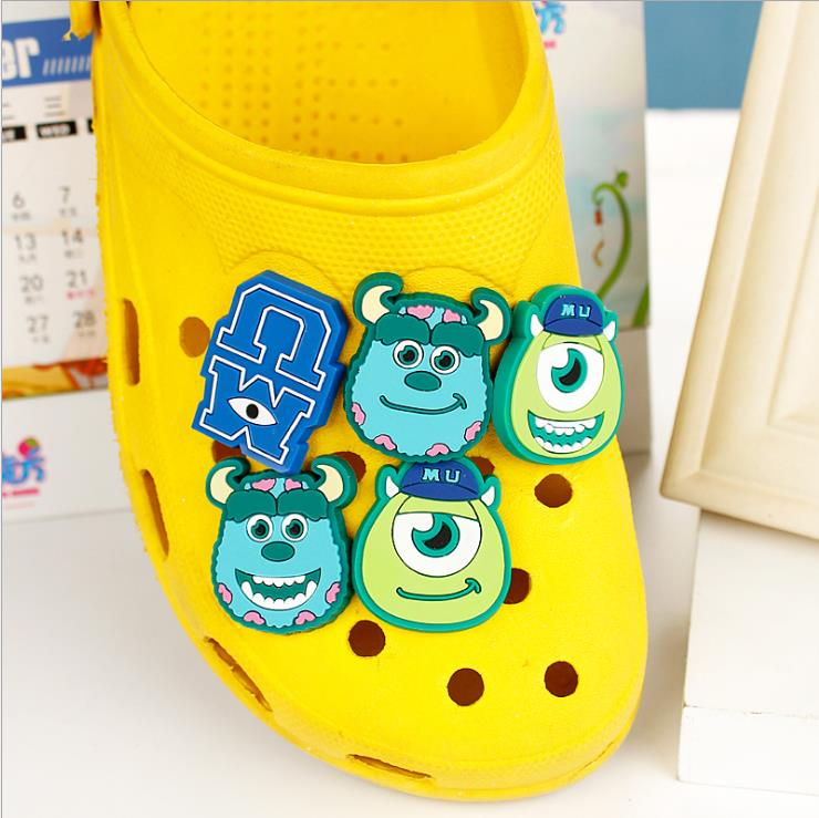 Children's gift Monsters University shoe flower cross Cartoon PVC shoe flower Hole hole shoes decorated