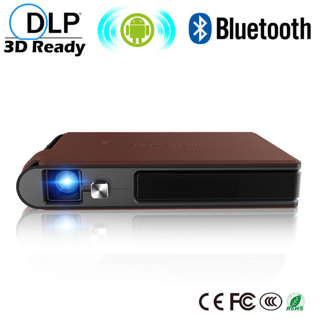 Big Sale CAIWEI Digital Pocket Portable Mini DLP Projector Home Theater Proyector Wireless Sync 3D Beamer Movie TV Support HD 1080P