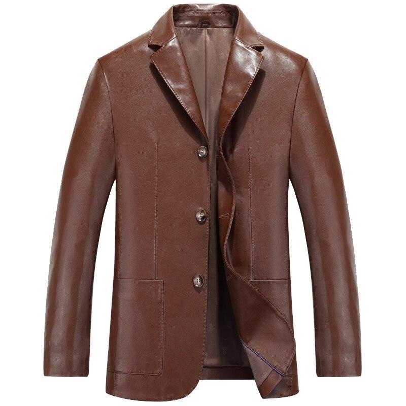 Hommes Manteau lt dk En 15088 Vêtements Moutons Brown Printemps Brown Vestes Automne Black Cuir Costume Homme Poli De xAxS1zpq