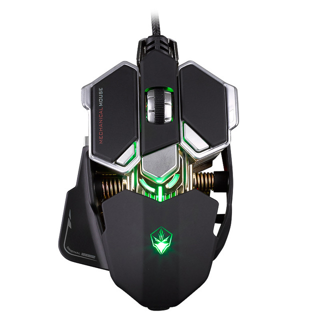 Wired Macros Gaming Mouse Computer 4000 DPI 10 Buttons Backlit Optical Gamer Mice Mechanical Ergonomic PC Desktop Peripherals 2