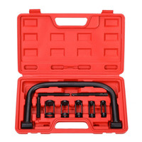 Free Shipping 9 piece Suit Car Valve Spring Compressor Valve Clamp Disassembly Tool Valve Camping Pliers