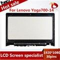 """(С Рамкой) 100% новый Ноутбук Жк-Экран Сенсорный Дигитайзер Ассамблеи Дисплей Для Lenovo Yoga 700 14 """"1920*1080"""