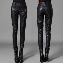 2017 High quality Pu trousers women pants boot cut casual women's legging skinny pencil PU leather pant