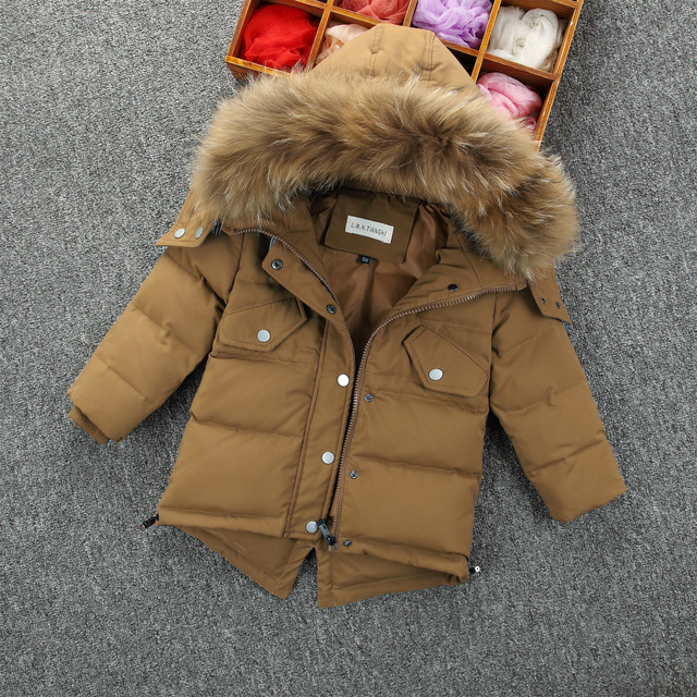 Children's Down Jacket Baby Clothing Baby Boys Jacket 2017 Winter Jacket Warm Hooded Long Sleeve Jacket for A Boy 2 3 4 5 6 7 8Y russia winter boys girls down jacket boy girl warm thick duck down