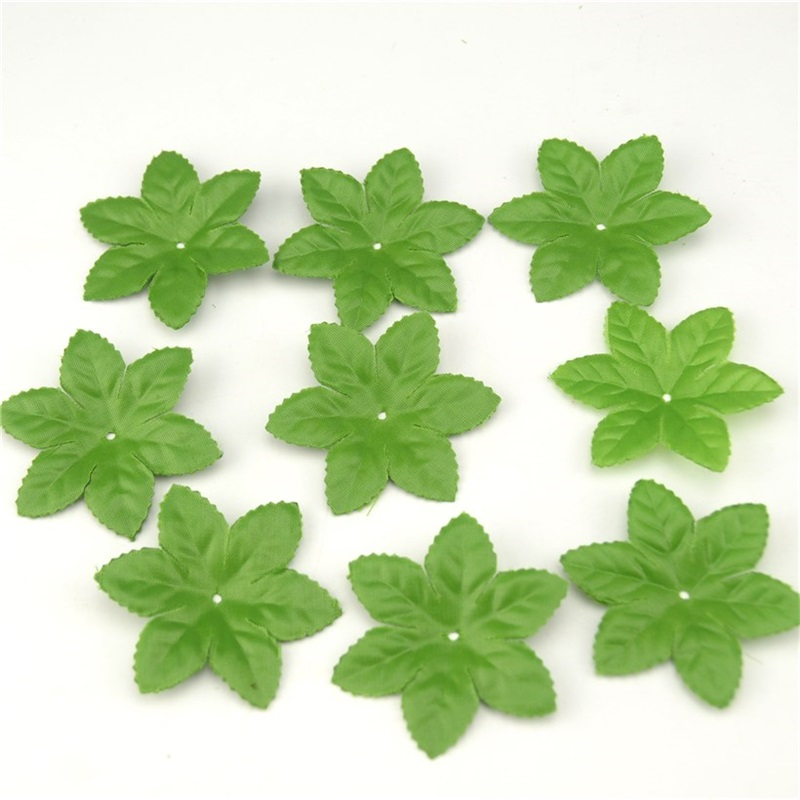 Buy 150pcs lot artificial silk ribbon for Artificial leaves for decoration