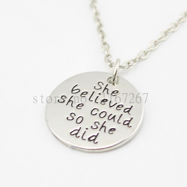 2016 inspirational jewelryshe believed she could so she did 2016 inspirational jewelryshe believed she could so she did necklace daughter sister friend aloadofball Images