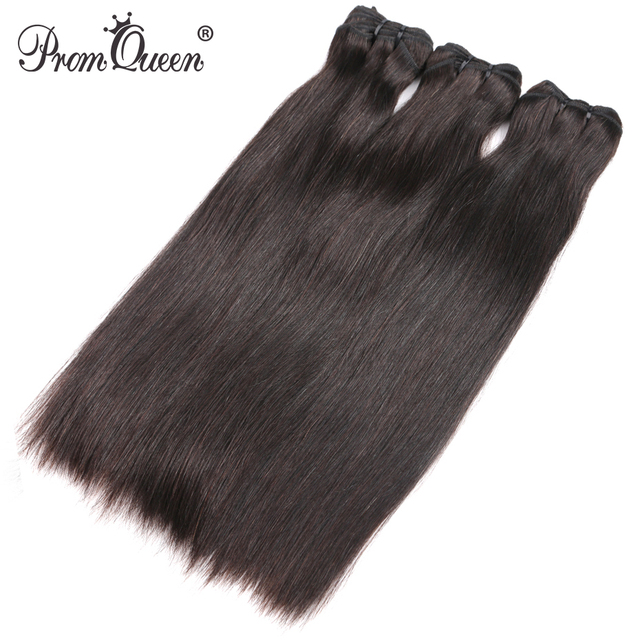 9A Prom Queen Silky Straight Bundles Raw Indian Virgin Hair Weave Bundles Natural Color Human Hair Extension 1PC/3PC Free Ship
