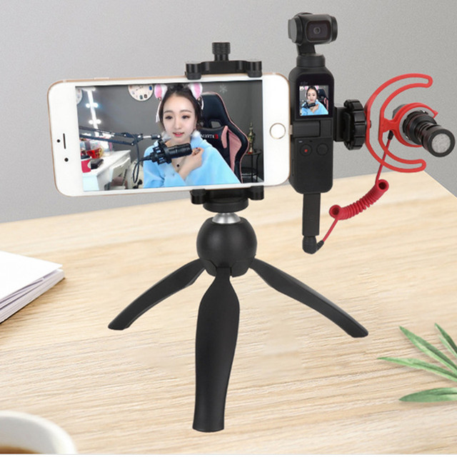 for Osmo Pocket Monitor Microphone Multi function Fixed Holder Mobile Phone Mount Bracket Gimbal Camera Expansion Accessories