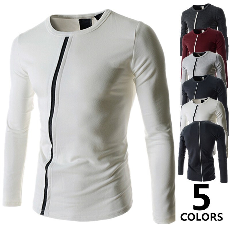 Mens Clothing Wholesale T Shirt Long Sleeve Unique Design Man Self Cultivation Shirts Brand In From