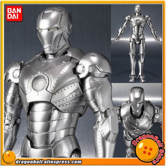 Iron Man Original BANDAI Tamashii Nations S.H.Figuarts (SHF) Exclusive Action Figure - Iron Man Mark2 (MK-2)&Hall of Armor SET captain america civil war original bandai tamashii nations s h figuarts shf exclusive action figure war machine mark 3