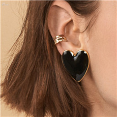1Pair-Women-Fluorescent-Color-Big-Love-Heart-Alloy-Gold-Color-Stud-Earrings-Party-Ear-Jewelry-Birthday