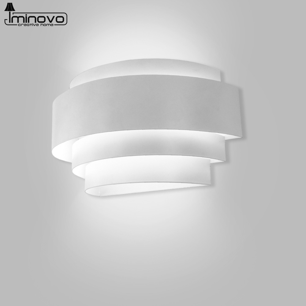 IMINOVO Simple LED Wall lamp Bedside Light Aisle Modern Living Room Bedroom Balcony Corridor Staircase European Creative Light led modern bedroom wall lamp bedside lamp creative living room balcony wall light double aisle stairs light za913541
