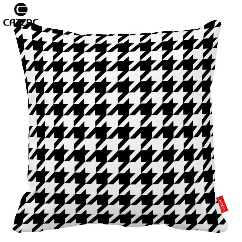 Black and White Classics Geometry Houndstooth Gird Print Car Decorative Pillowcase Pillow cases Cushion Covers Sofa Home Decor