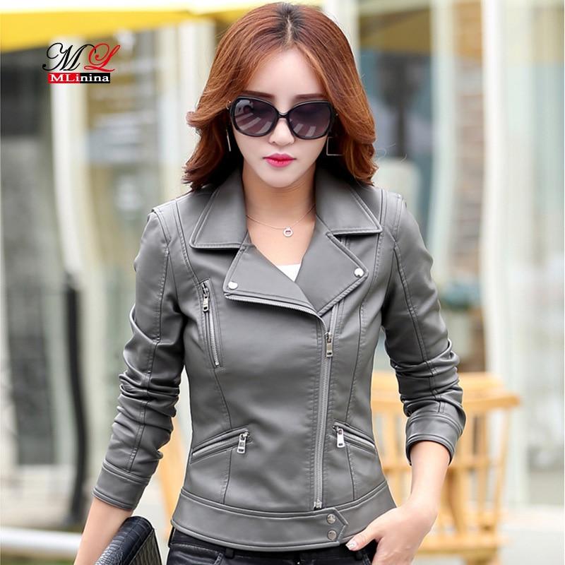 Mlinina   Leather   Jacket Women Jaqueta De Couro Female Jacket Coat Autumn Winter Fashion Plus Size 5xl Ladies   Leather   Outerwear