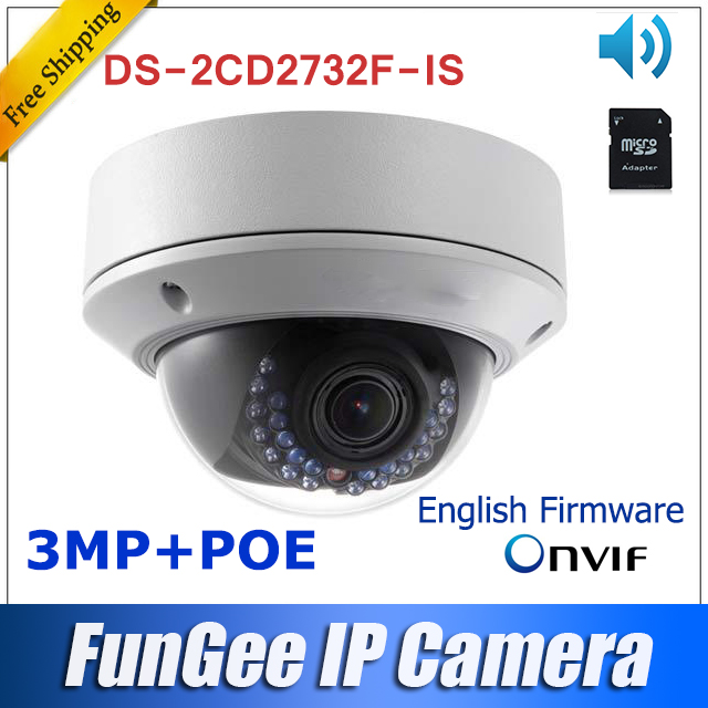 3MP Network IP camera Ds 2cd2732f is Multilingual English firmware V5 2 5 Full HD1080P in