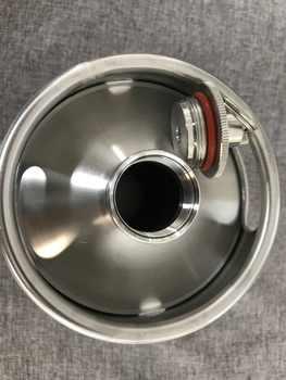 新加入304ステンレス鋼5l/3.6l/2lミニ樽ビールgrowlerポータブルビールボトルホームビール作りで圧力リリーフ弁蓋