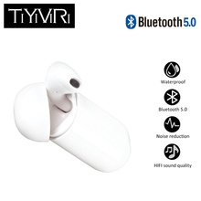 цены на Bluetooth 5.0 Earbuds with Mic Mini Wireless in-ear earphone Hands Free Earphones Bluetooth Stereo  Wireless Charger for Phone  в интернет-магазинах