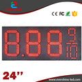 24'' 8889/10 red outdoor waterproof led gas station price signs board 7segment Digital led fuel gasoline board