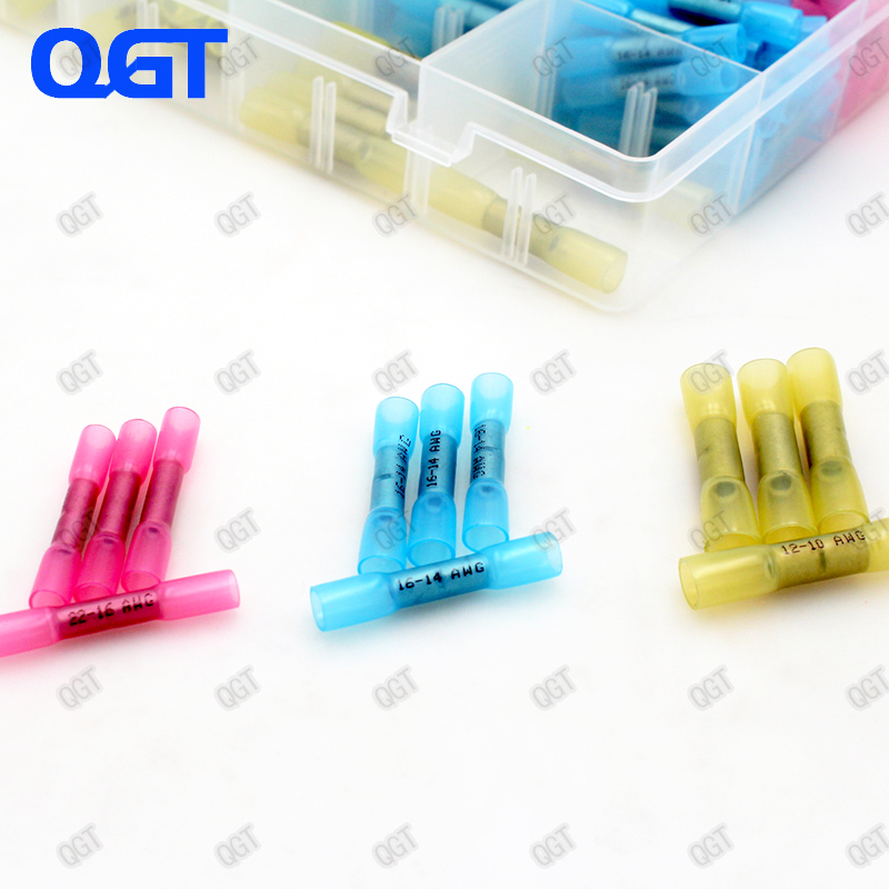 100PCS BHT2 Heat Shrinkable Butt Waterproof Connector 16 14AWG 1 5 2 5mm2 Splice Butt Heat Shrink Tube Joint Crimp Terminal in Terminals from Home Improvement