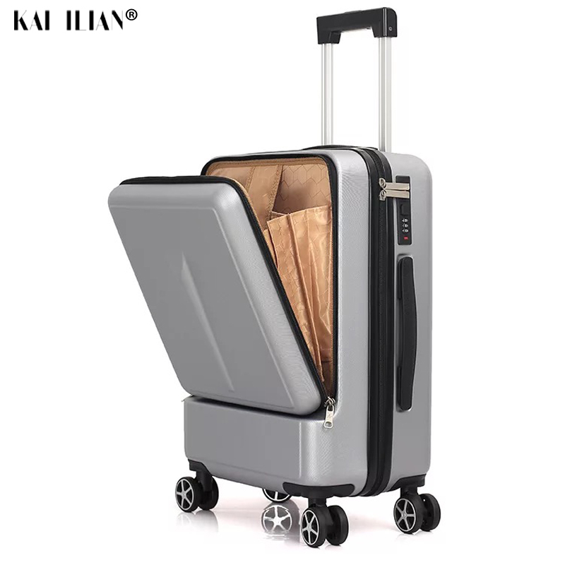 "20""24""inch Women Rolling Luggage Travel Suitcase Case with Laptop Bag Men Universal wheel Trolley ABS box fashion suitcase"