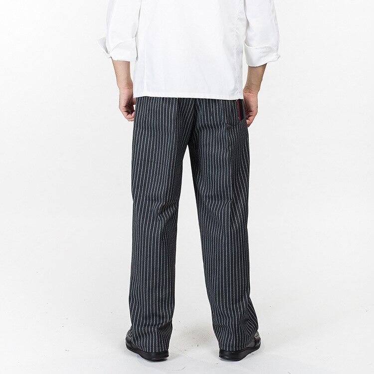2017Reshka e re e Arritjes Kuzhinier Uniform Pantallona Kuzhine Pantallona Kuzhine Pantallona me bel elastik Fundet e shërbimit të ushqimit Pantallona për burra të punës