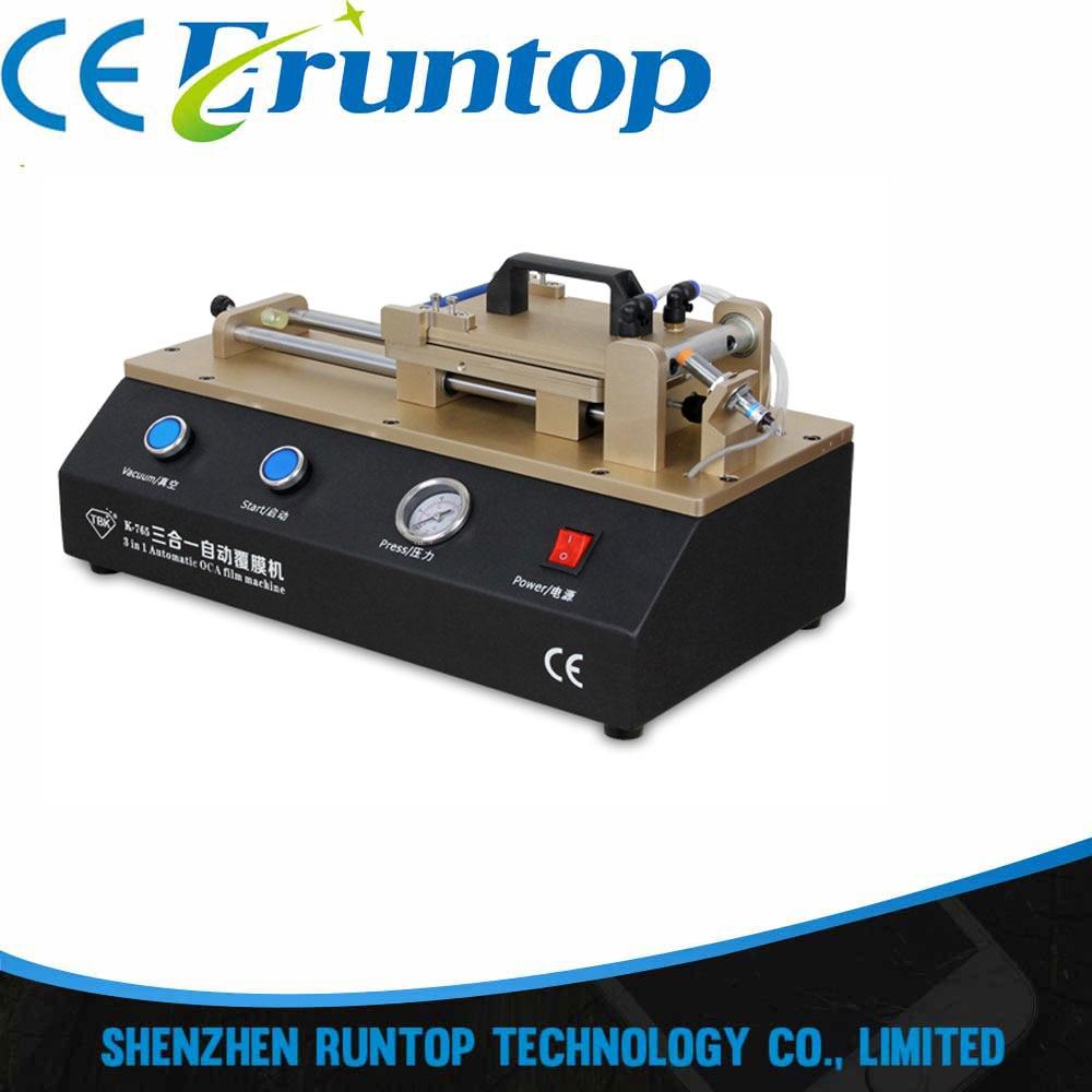 TBK-765 Universal 3 in 1 Automatic OCA Film Laminating Machine  Built-in vacuum pump tp760 765 hz d7 0 1221a