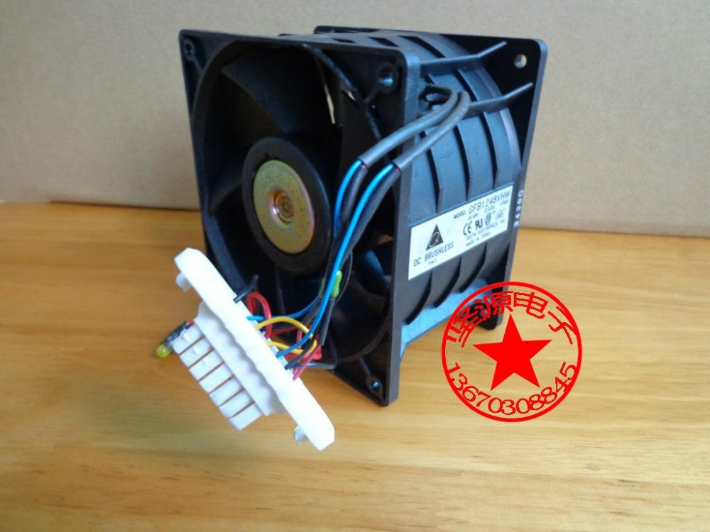 Delta Electronics GFB1248VHW -F00 Server Square Fan DC 24V 0.93A 120x120x76mm 6-wire delta 12038 12v cooling fan afb1212ehe afb1212he afb1212hhe afb1212le afb1212she afb1212vhe afb1212me