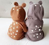 Cute Animal Bear Long Sleeve Cotton Newborn Baby Rompers Back Polka Dot Baby Costume Clothing Outfit
