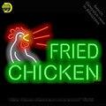 Neon Zeichen für Fried Chicken Neon Lampen zeichen Hotel Lebensmittel handwerk Glas rohre Schmücken Bier Wand Zimmer licht zeichen gemacht zu bestellen-in Neonröhren & Röhren aus Licht & Beleuchtung bei
