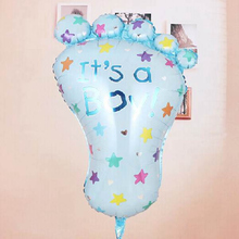 Its a Boy/Girl Lovely Feet Ballon Baby Shower Foot Aluminum Foil Balloons Birthday Party Baby Shower Wedding Decoration