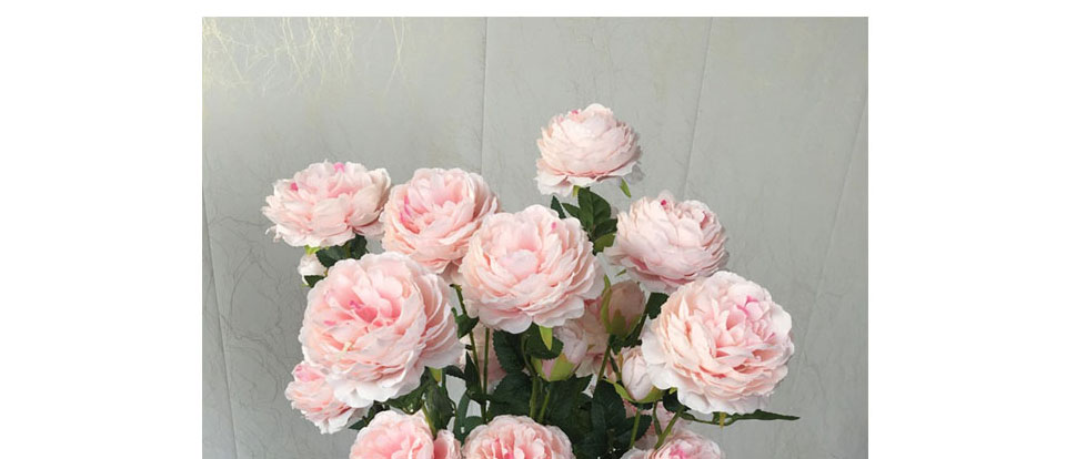 Artificial Flowers 3 Heads White Yellow Peonies Silk Flowers Peony Artificial Flower Wedding Decor for Home Peonies Color_14