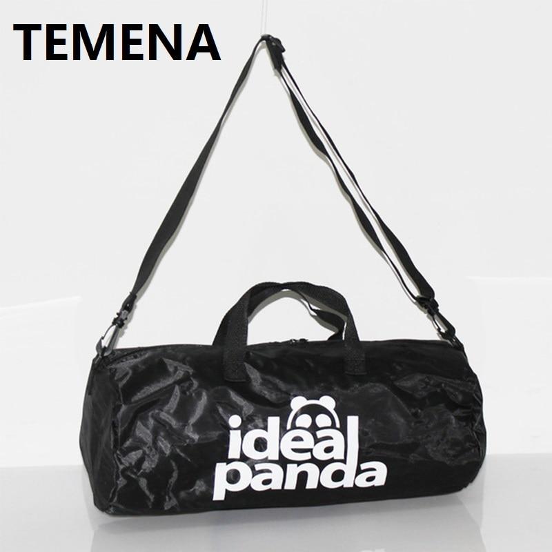 TEMENA High Quality Cylindrical Sports Bag For Men Women Mulifucntional Shoulder font b Fitness b font