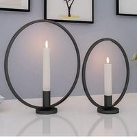Baffect Candlestick Holders Candle Holder Set of 2 Iron Candle Light Holder for Wedding Christmas Party Dinner Table Decoration