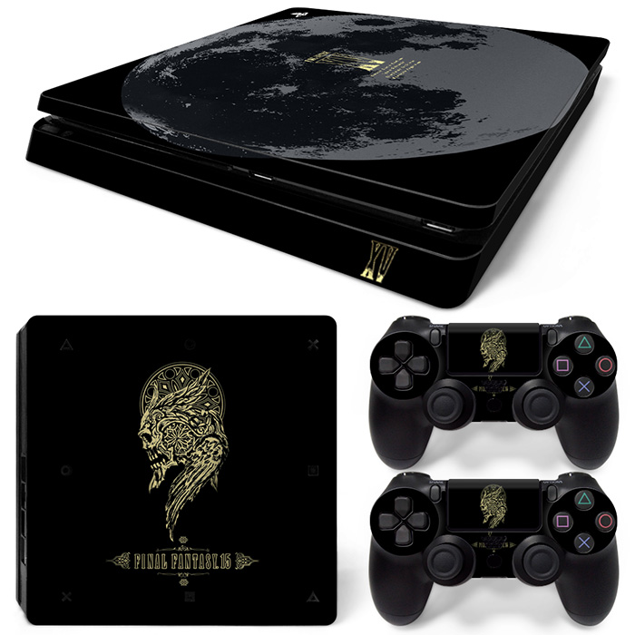 Free Drop Shipping Video Game Skin Decal Cover Sticker for Sony PlayStation 4 Slim Console for PS4 slim final fantasy 15