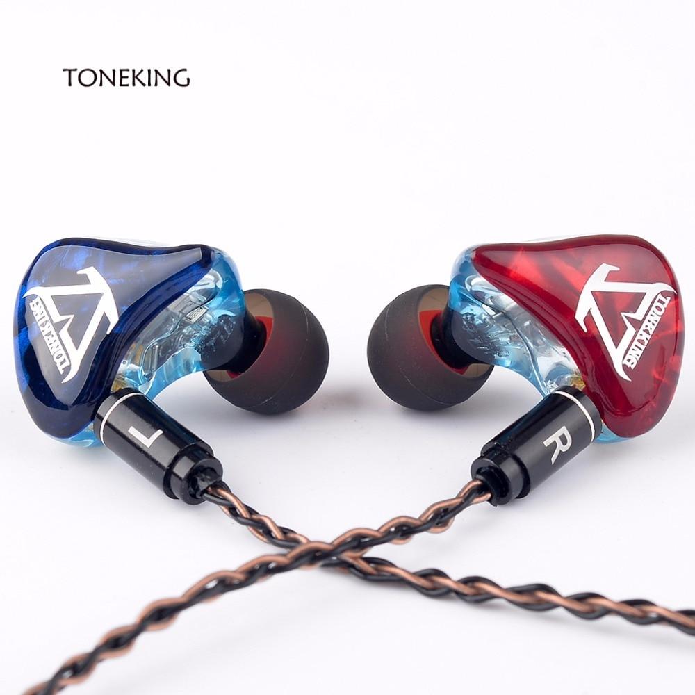 TONEKING T3 3BA fait sur commande bricolage dans l'oreille écouteur 3 Armature équilibrée HIFI moniteur écouteurs MMCX 8-Core cuivre argent câble mixte - 4