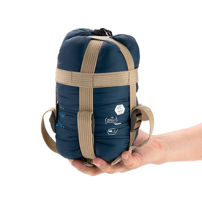 ФОТО  Outdoor Camping Lazy Bag Portable Mini Envelope Sleeping Bag Travel Hiking Ultra Light Splicing Laybag