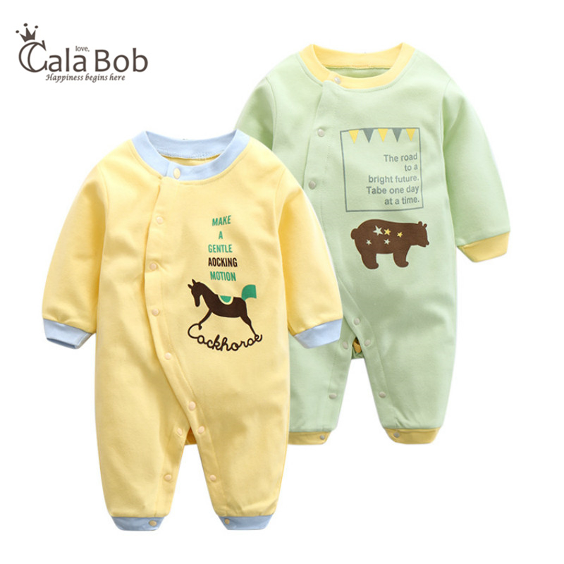 CalaBob Autumn Winter Baby Romper Newborn Baby Boy Girl Rompers Cotton Long Sleeve Jumpsuit Cartoon Animal Baby Clothes baby overalls long sleeve rompers clothing cotton dog anima 2017 new autumn winter newborn girl boy jumpsuit hat indoor clothes
