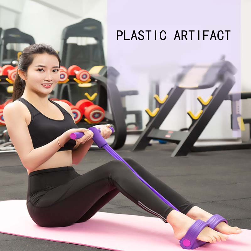 Yoga Fitness Resistance Bands Strong Latex Tubes Pedal Exerciser Women Men Sit Pull Up Ropes Waist Training Sport Equipment