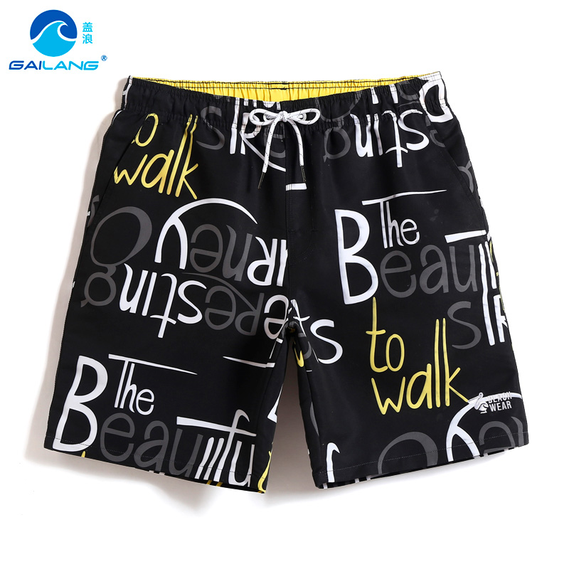 Gailang Men's   board     shorts   bathing suit hawaiian bermudas swimsuit joggers printed beach   shorts   sport de bain homme briefs mesh