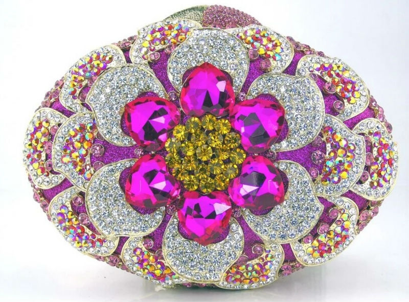 Crystal Evening Bag Diamond Clutch Women Evening Handbag Wedding Party Purse Bling Banquet Bag
