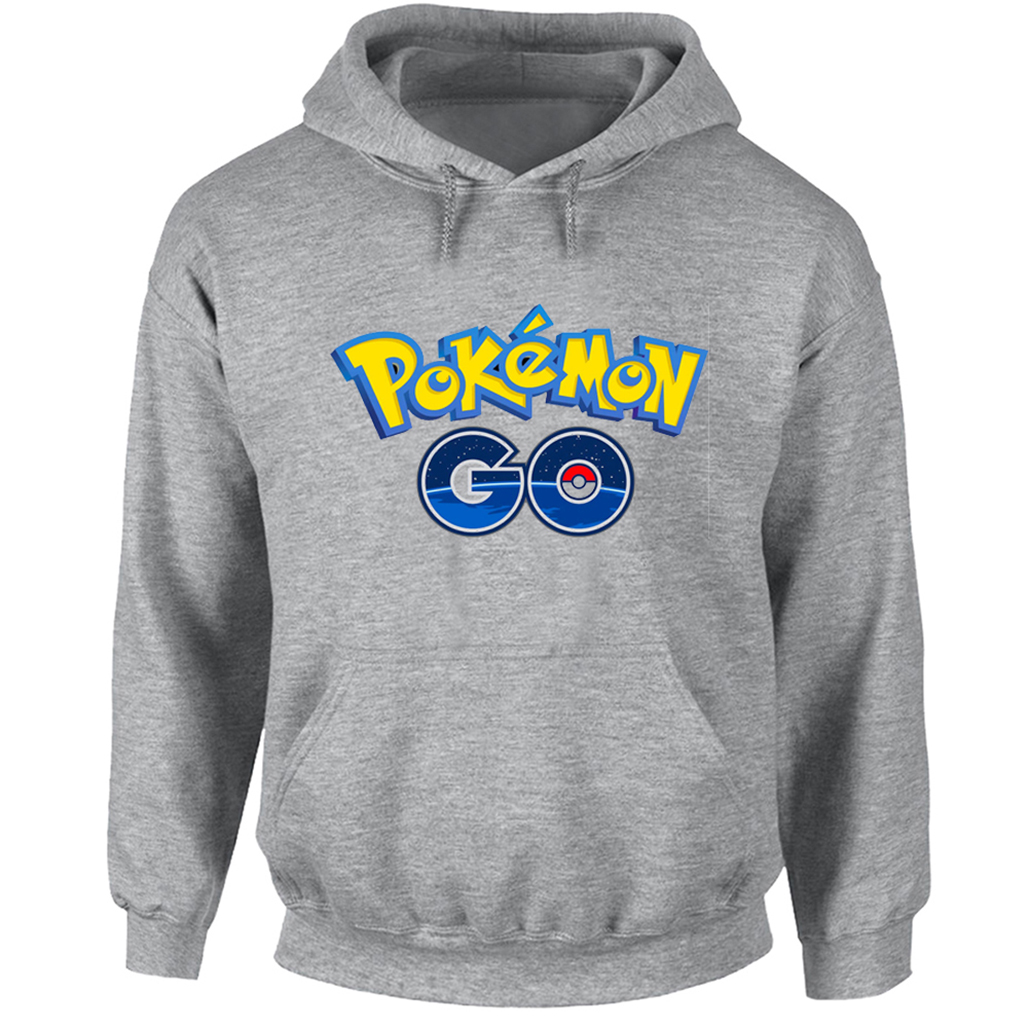 Japanese Anime Pokemon Go Funny Pattern Hip Hop Hoodie Men Women Boy Girl Cartoon Cotton Sweatshirt Multi Color Hooded Jackets