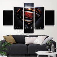 Man Of Steel Movie Poster Canvas Art Painting Home Decor Modular Wall Picture For Living Room