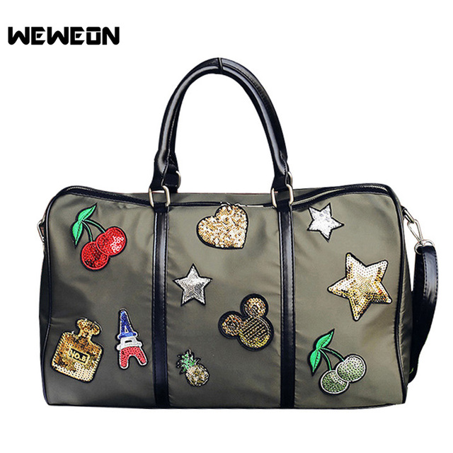 Star Pattern Oxford Sport Bag Woman Light Gym Bags For Fitness Yoga  Training Bag Stylish Girl Travel Shoulder Handbag sac sport d6650e2324