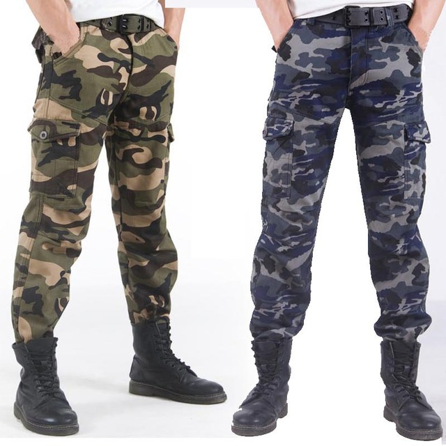 Winter Warm Thick Fleece Pants for Men Camouflage Cargo Pants Military Tactical Pants Man Work Trousers Army Track Pant