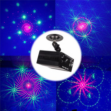 Colorful LED Lumiere Sound Activated Laser RGB 48 Patterns Stage Lighting Effect Lamp Dance Hall KTV Bars Party Wedding Disco(China)