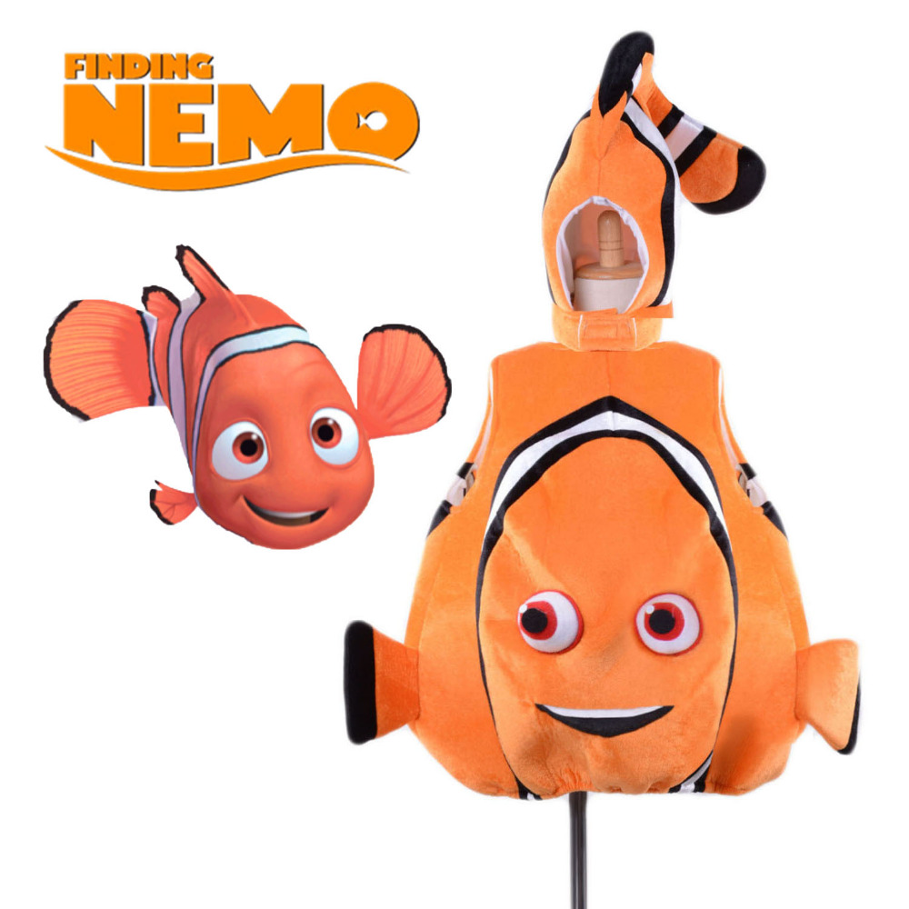 Toddlers Nemo Costume Finding Nemo Fish Costume Enfant Mascotte Cute Baby Clownfish Sea Animal Mascot Fancy Dress for Kid S/M/L