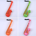 Venta caliente Inflable Juguete del Instrumento Musical del Saxofón Saxo Fancy Dress Party Juguetes color al azar